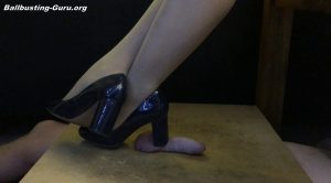 Sitting shoe play – Mistresses Cock Box