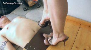 BallsUnderHighHeelMules – Balls Under High Heel Mules – Boot Heel Worship Cbt Humiliation