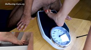 Cock trampling on the weight scale – Aesthetic Trampling