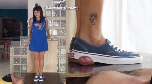 Vans Trampling and Shoejob by Lara Cuore – Aballs and cock crushing sexbomb