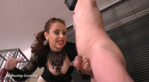 Mistress Lady Renee trains a busting slave