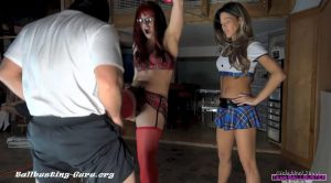 Sexy School Girls Ballbusting POV Tag Team – Girls Next Door: TEAM BALLBUSTER