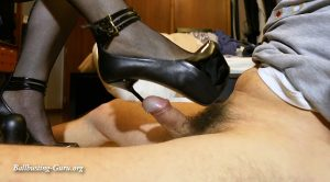 COCK INSERTION WITH 7 INCH HELL, WITH METAL TIPS – Trampling and Crushing Jo