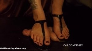 Crushed Beneath Sandals – Brutal BDSM – Mistress Mayhem