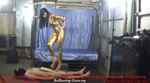 We Love Ballbusting – Golden Spikes Make The Slave Scream For Mercy!