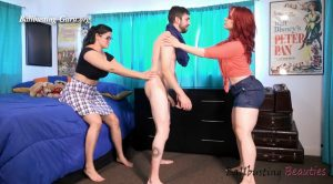 Perverted Brother Gets a Busting – Ballbusting Beauties