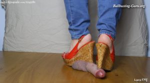 Rough Cock Stomp in Red Wedges HD – Lara CBT Clip Store
