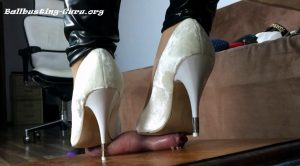2 Clips – Stomp On Balls To Splash Them – Mix 05 – HD Polish Mistress