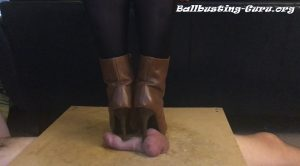 Boots bust his balls – Mistresses Cock Box