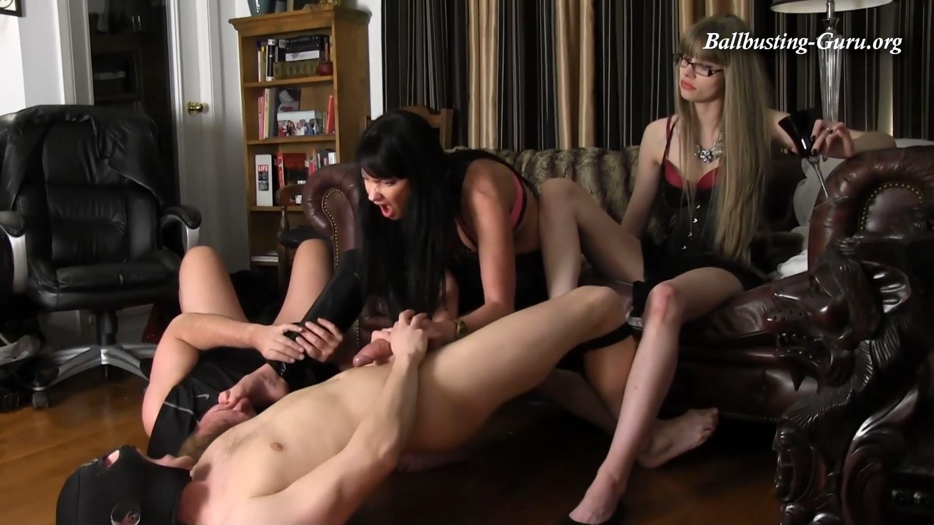 Ballbusting Bitches slapping and kicking our bitches - kandy kink femdom