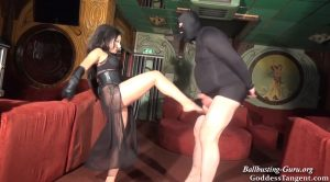 Goddess Tangent World of Femdom – Black Stocking Ball Destruction