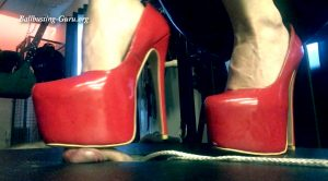 Red Shoe Trampling – Mistress Taylors collection