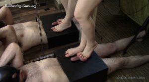 Cock Box Perfection – 140lbs sandals and barefoot crush with cum shot