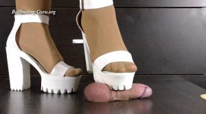 Karina Femdom Store – My Corrugated soles of high heels leave mark on your circumcised cock