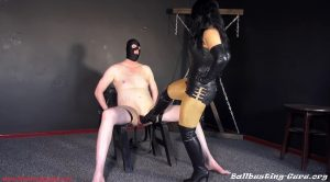 Balls destruction: Mistress Ezada kicking Her slave's balls