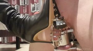 Boot slavery in spiked CBT – Spoilt Princess Grace