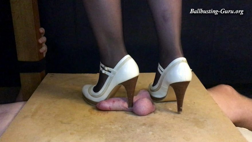 Cock box torture high heels