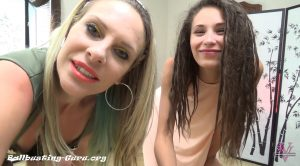 Sofia and Vicky ballbust the pervert – Worship Goddess Vicky and Friends