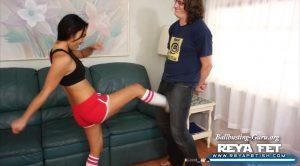 Reya Fet Films – Workout Clothing Ballbusting Craziness with Elan Kane