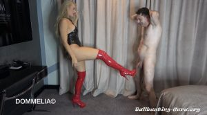 Goddess Dommelia – Ballbusting Comes First