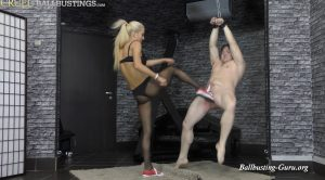 Ballkicks in a red Converse – Mistress Ariel – CRUEL MISTRESSES