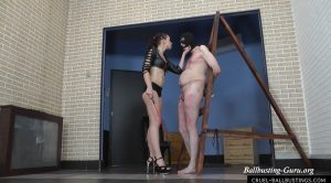 Cock stroking with riding crop – Mistress Anette – CRUEL MISTRESSES