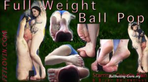 Ballbustin' & Foot Lovin' – Ophelia Rain – Full Weight Ball Pop