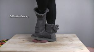 Princess Anastasia – Grey Uggs Cock Crush and Bootjob