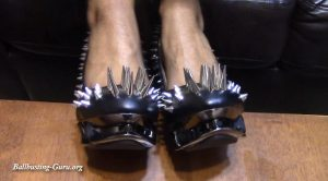 Goddess Nicoles Domain Of Pain – My New Ball Stomping Spikes
