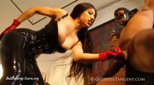 Goddess Tangent World of Femdom – Ruthless X-Frame Ballbusting