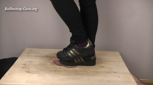 Princess Anastasia – Adidas Superstar Black/Gold Cock Crush and Shoejob