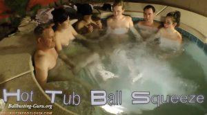 Ballbustin' & Foot Lovin' – Hot Tub Ball Squeeze