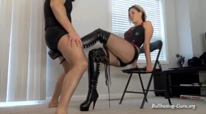Kelly Wants to Bust YOUR Nuts – Which Boots Hurt the Most? (Thigh High Boots)
