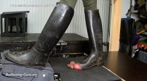 Balls and Cock in Hell – Kathi – Our new extrem Model busting with Aigle Riding boots