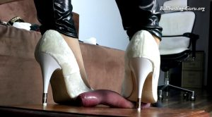 Stomp On Balls To Splash Them – Session 12 –  HD Polish Mistress