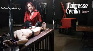 Maitresse Cecilia – Ballbusting CBT Whipping