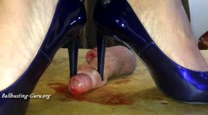 Mistresses Cock Box – Breaking his cock and balls under stiletto heels