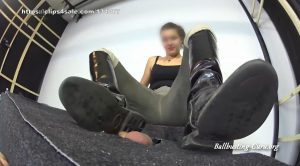 Fury ELENA Riding Boots Trampling Throat Crushing Balls Busting with full force – Balls and Cock in Hell