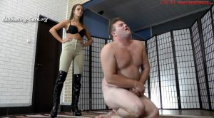 CRUEL MISTRESSES – Mistress Amanda – FULL HD Her boots between his legs