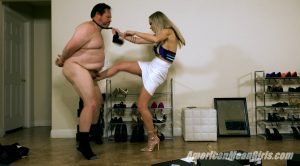 Ballbusting The Shoe Store Loser – Goddess Platinum – THE MEAN GIRLS