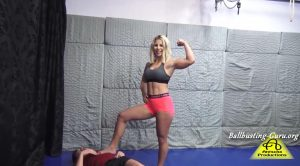 Sheena ballbusting part 2 – Antschas wrestling and fetish store