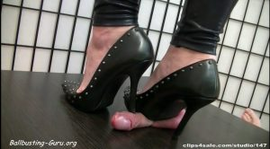 ABALLS AND COCK TRAMPLE – Mistress Arletta – Brads Heels