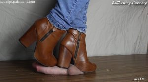 Lara CBT Clip Store – Brutal Boot Crush Damages His Cock