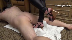 HIGH HEEL Trample by Ms Christina – Smashing Balls with Bare Feet and Wedgies