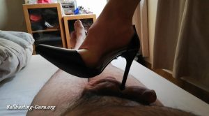 Mistress tryouts her new high heels – Cruel Cock and Ball Crushing