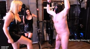 An Enjoyable Ballbusting – Mistress Karina & Mistress Tess