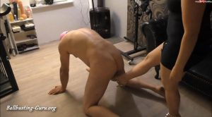 Ballbusting and strapon – Betty – Beauty Of Pain