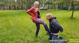 Lady Karame – Ballbusting with sexy Hunter Boots