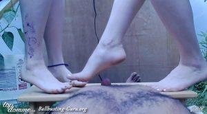 Miss Adah Vonn & Izzy – Double Domme Barefoot Cock Trample