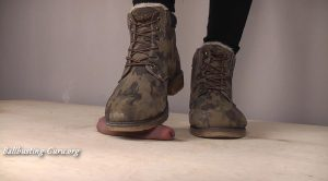 Mistress Nena – Brutal Camo Boots Cock Crush and Shoejob with cum – VIIX FETISH VIDEOS